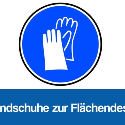 Schutzhandschuhe Desinfektion