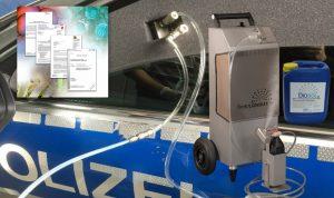 Fahrzeug Innenraum Desinfektion: Automatisiert nach EN-Normen