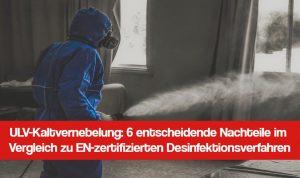 ULV Kaltvernebler: Kein professionelles Desinfektionsverfahren